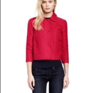 Tory Burch Snap Front Cropped Jacket